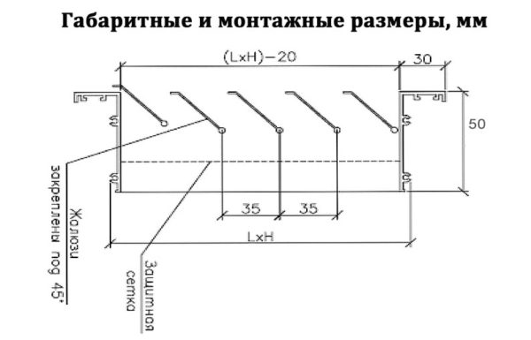 схема инерционной решетки